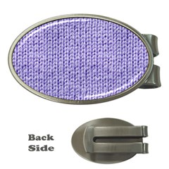Knitted Wool Lilac Money Clips (oval)