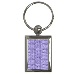 Knitted Wool Lilac Key Chains (rectangle)