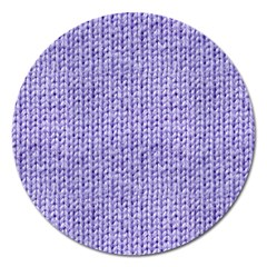 Knitted Wool Lilac Magnet 5  (round)