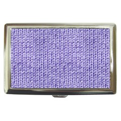 Knitted Wool Lilac Cigarette Money Cases