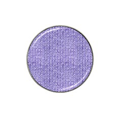 Knitted Wool Lilac Hat Clip Ball Marker (10 Pack)