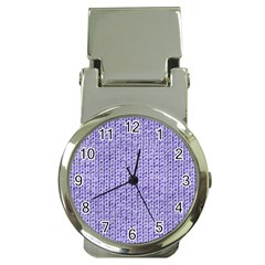 Knitted Wool Lilac Money Clip Watches