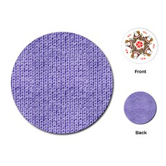 Knitted Wool Lilac Playing Cards (round)