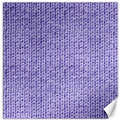 Knitted Wool Lilac Canvas 16  X 16