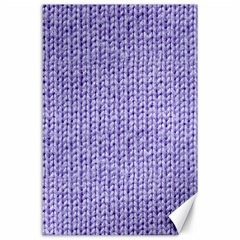 Knitted Wool Lilac Canvas 24  X 36