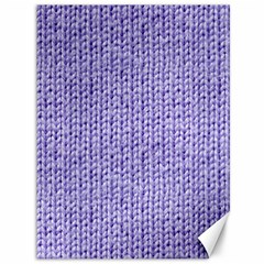 Knitted Wool Lilac Canvas 36  X 48