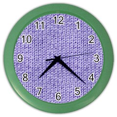 Knitted Wool Lilac Color Wall Clocks