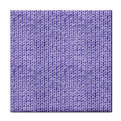 Knitted Wool Lilac Face Towel