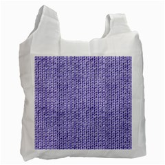 Knitted Wool Lilac Recycle Bag (one Side)