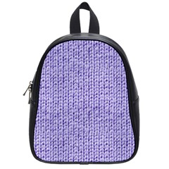 Knitted Wool Lilac School Bag (small)