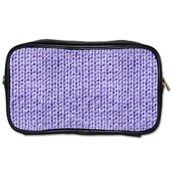 Knitted Wool Lilac Toiletries Bags