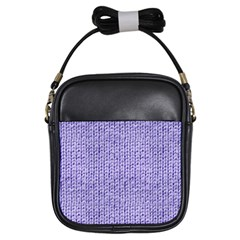 Knitted Wool Lilac Girls Sling Bags