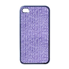 Knitted Wool Lilac Apple Iphone 4 Case (black)