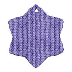 Knitted Wool Lilac Snowflake Ornament (two Sides)