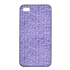 Knitted Wool Lilac Apple Iphone 4/4s Seamless Case (black)