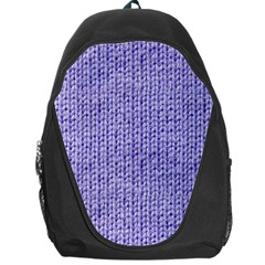 Knitted Wool Lilac Backpack Bag