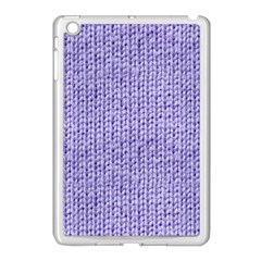 Knitted Wool Lilac Apple Ipad Mini Case (white)