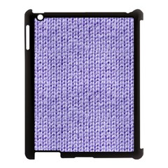 Knitted Wool Lilac Apple Ipad 3/4 Case (black)