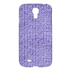 Knitted Wool Lilac Samsung Galaxy S4 I9500/i9505 Hardshell Case