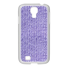 Knitted Wool Lilac Samsung Galaxy S4 I9500/ I9505 Case (white)