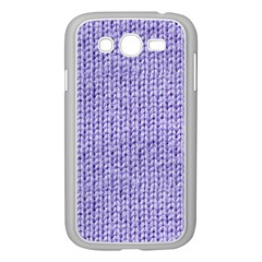 Knitted Wool Lilac Samsung Galaxy Grand Duos I9082 Case (white)