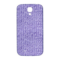 Knitted Wool Lilac Samsung Galaxy S4 I9500/i9505  Hardshell Back Case