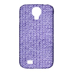 Knitted Wool Lilac Samsung Galaxy S4 Classic Hardshell Case (pc+silicone)