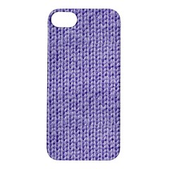 Knitted Wool Lilac Apple Iphone 5s/ Se Hardshell Case