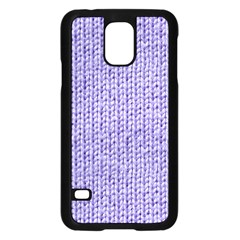 Knitted Wool Lilac Samsung Galaxy S5 Case (black)