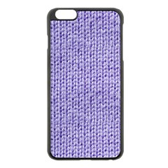 Knitted Wool Lilac Apple Iphone 6 Plus/6s Plus Black Enamel Case