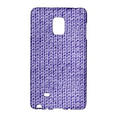 Knitted Wool Lilac Galaxy Note Edge