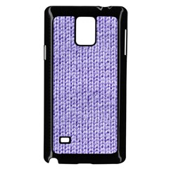 Knitted Wool Lilac Samsung Galaxy Note 4 Case (black)