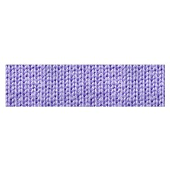 Knitted Wool Lilac Satin Scarf (oblong)