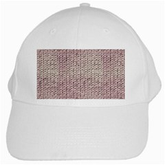 Knitted Wool Pink Light White Cap