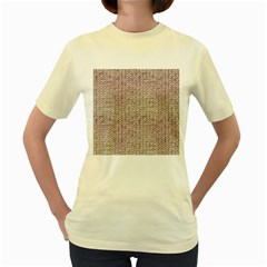 Knitted Wool Pink Light Women s Yellow T Shirt