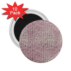 Knitted Wool Pink Light 2 25  Magnets (10 Pack)