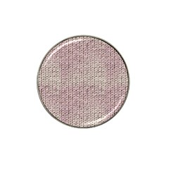 Knitted Wool Pink Light Hat Clip Ball Marker (10 Pack)