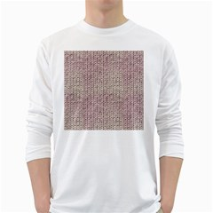 Knitted Wool Pink Light White Long Sleeve T Shirts