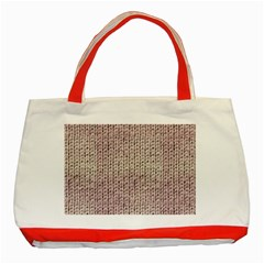 Knitted Wool Pink Light Classic Tote Bag (red)