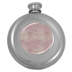 Knitted Wool Pink Light Round Hip Flask (5 Oz)