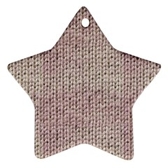 Knitted Wool Pink Light Star Ornament (two Sides)