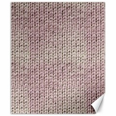 Knitted Wool Pink Light Canvas 8  X 10