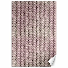 Knitted Wool Pink Light Canvas 12  X 18
