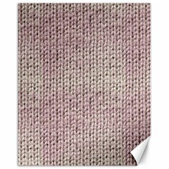 Knitted Wool Pink Light Canvas 16  X 20