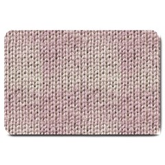 Knitted Wool Pink Light Large Doormat