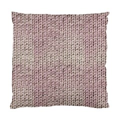 Knitted Wool Pink Light Standard Cushion Case (two Sides)
