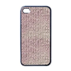 Knitted Wool Pink Light Apple Iphone 4 Case (black)