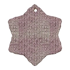 Knitted Wool Pink Light Snowflake Ornament (two Sides)