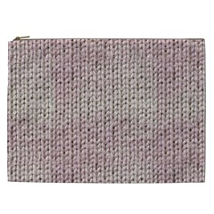 Knitted Wool Pink Light Cosmetic Bag (xxl)