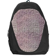 Knitted Wool Pink Light Backpack Bag